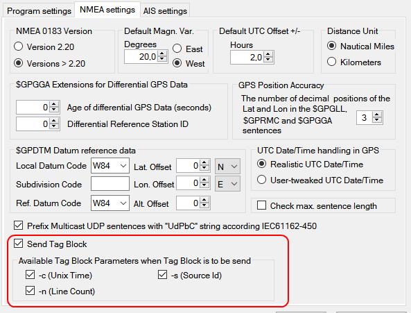 NemaStudio now supports the NMEA 0183 TAG Block | Ger